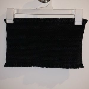 Urban Outfitters Smocked Velvet Tube Top